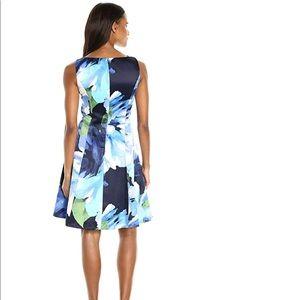 Ellen Tracy Dresses - NWT floral satin black + blue jumper party dress 4